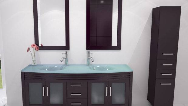 Grand Regent Double Bathroom Vanity Glass Espresso