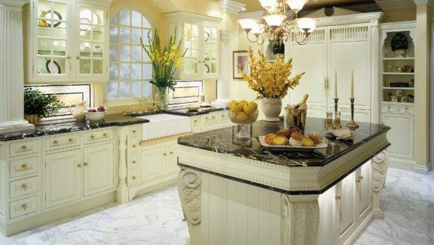 Granite Marble Quartz Add Elegance Traditional Kitchen