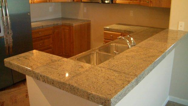 Granite Tile Bar Kitchen Countertop