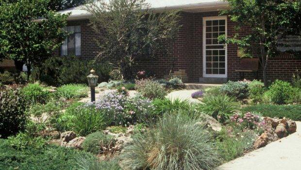Grass Garden Ideas Shallow Front Yard Make More Fabulous
