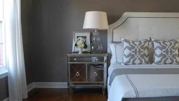 Gray Bedroom Rich Creamy Walls Paint Color Restoration Hardware