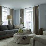 Gray Blue Living Room Walls Paint Color