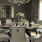 Gray Dining Room Transitional Vallone Design