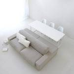 Gray Double Sided Sofa