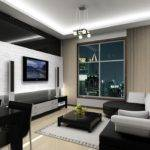 Gray Fashion Living Room Interior Design