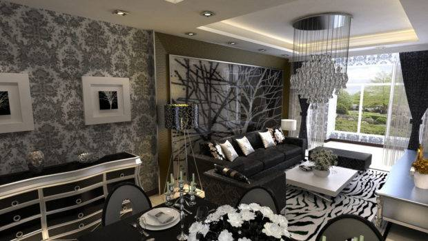 Gray Interior Design Rendering House