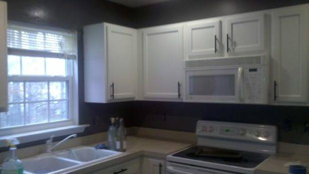 Gray Kitchen Walls Oak Cabinets Kitchentoday
