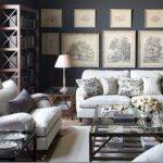 Gray Living Room Walls Toile Interiorly