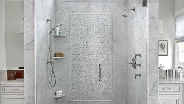 Gray Marble Shower Clerestory Window Face