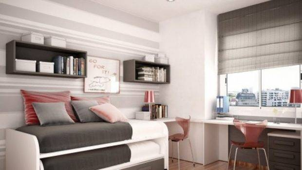 Gray White Bunk Beds Five Space Saving Small