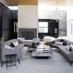 Great Combination Grey White Black Accent Living Room