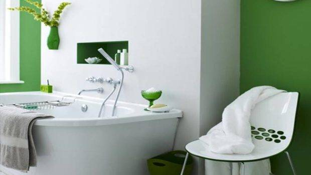 Green Bathrooms Decorating