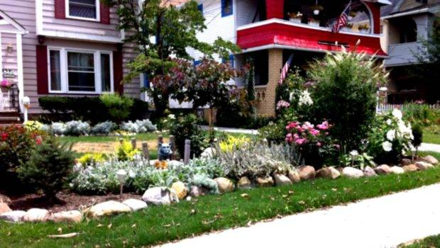 Green Simple Landscaping Ideas Using Mulch Front Yard