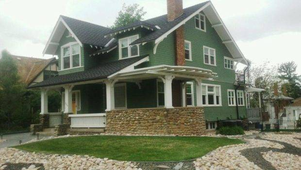 Green Wall Exterior Paint Colors House Small Terrace Can Add