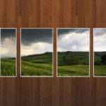Green Wheat Field Wood Wall Facebook Cover Awesome Dps