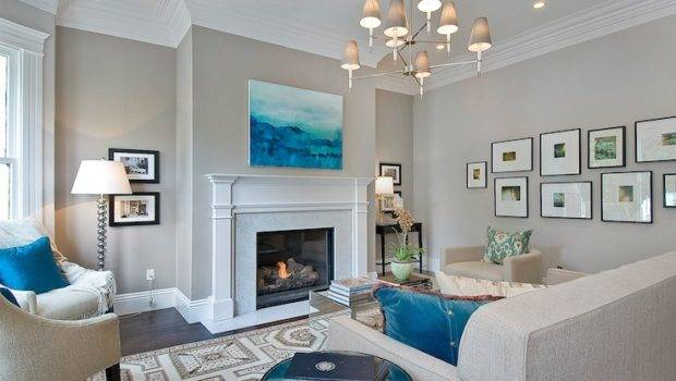 Greige Paint Colors Contemporary Living Room Benjamin Moore Abalone