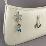 Grey Aqua Key Chain Purse Hook Wireexpressions