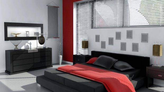 Grey Bedroom Ideas Red Black