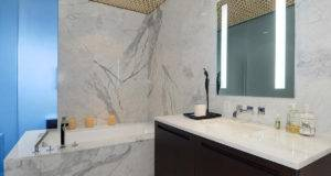 Grey Marble Tiles Bath Tub Beautiful Apartment Amazing Views