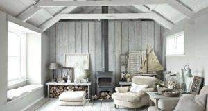 Grey Walls Loft Style Wood Burning Stove