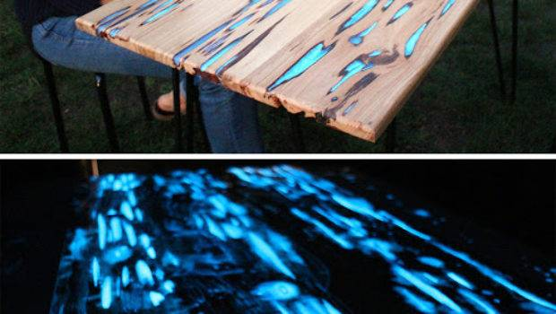 Guy Shows Make Glow Dark Table