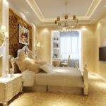 Gypsum Ceiling Room Decor Design Bedside Wall Lamp High