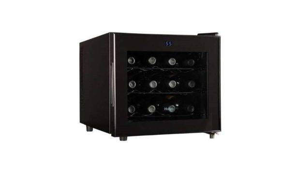 Haier Bottle Ultra Quiet Wine Fridge Cooler Cellar Black Hvtm Pbb