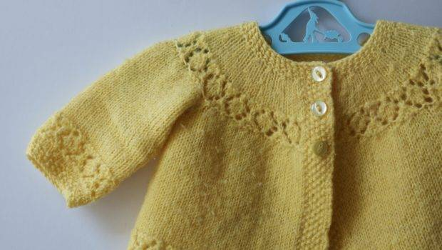 Hand Knitted Vintage Baby Cardy Grandma Peggy