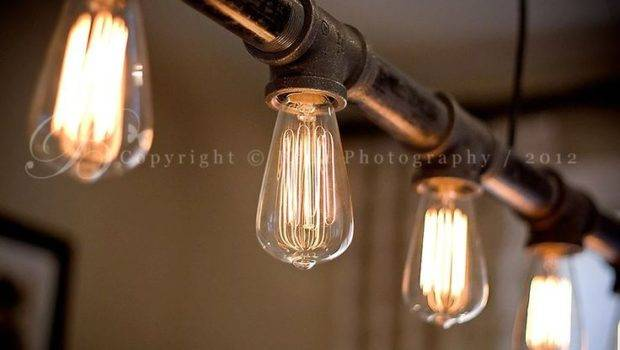 Hand Made Pipe Light Fixture Style Watch Industrial Chic Pinter