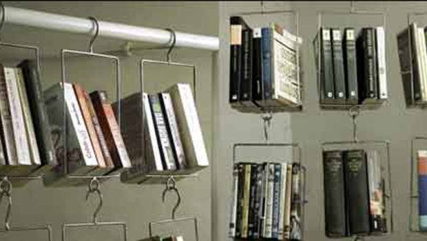 Hanging Book Storage One Total Snapshots Creative Modern Bookcase