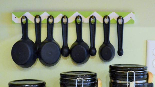 Hanging Measuring Spoon Cup Hanger Organizer Bygraceicreate
