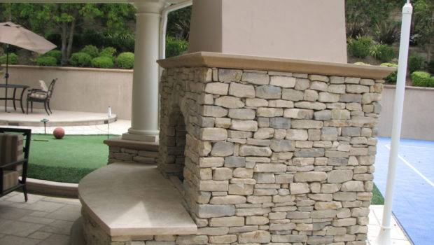 Hardscape Flagstone Outdoor Fireplaces Orange County