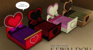 Heart Bed Object Sims Mesh