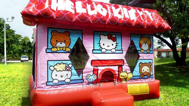 Hello Kitty Bounce House Rental Miami
