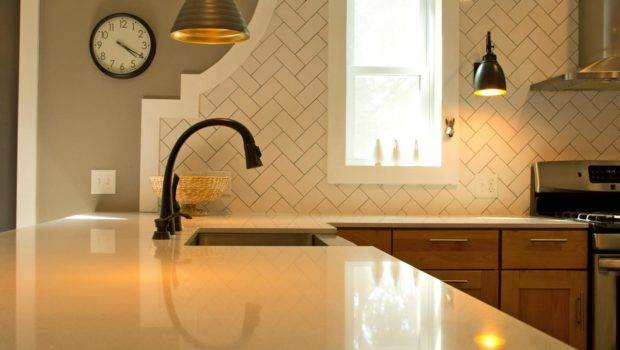Herringbone Pattern Subway Tile Kitchen Backsplash Hgtv
