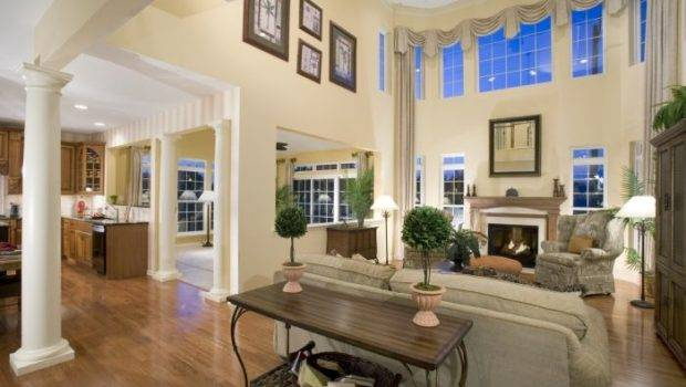 High Ceiling Living Room Remodel Pinter