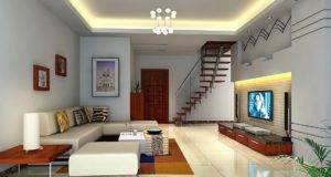 High Ceiling White Indirect Lamp Inside Lighting