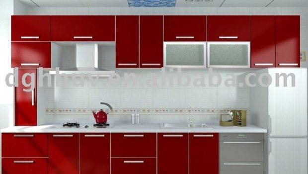High Gloss Red Mdf Panel Modern Kitchen Cabinet Door