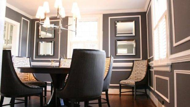 Hollywood Regency Gray Wall Painting Colors Charcoal