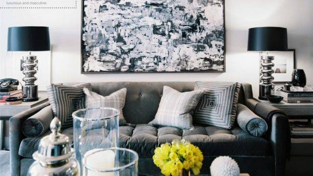 Hollywood Regency Grey Living Room Style Pinterest