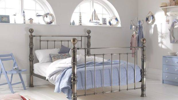 Home Beds Metal Aurora Bed Frame Brass