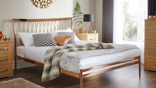 Home Beds Metal Blake Copper Bed Frame