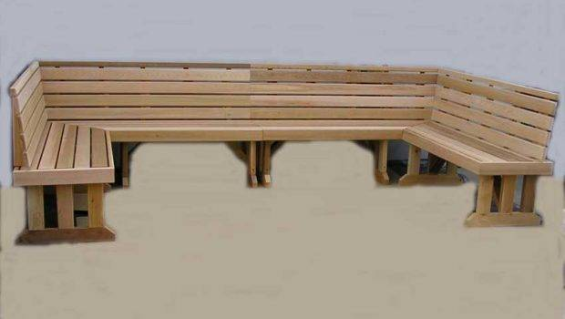 Home Benches Freestanding Wrap Around Sectional Cedar