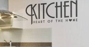 Home Black White Wall Stickers Kitchen Heart