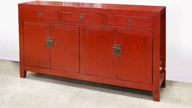 Home China Buffets Cabinets Red Lacquer Cabinet