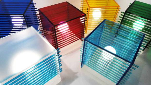 Home Contemporary Lighting Design Cubes Color Table Lamp
