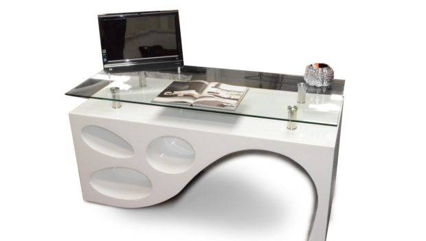 Home Contemporary White Office Desk