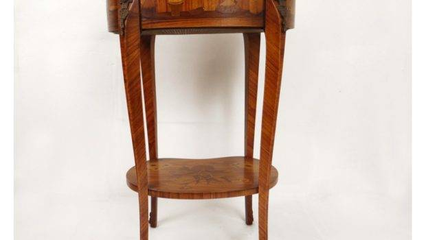 Home Furniture Tables Consoles Small Bedside Table Inlaid Wood