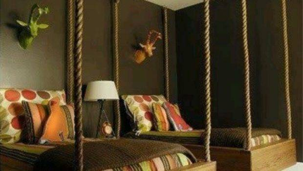 Home Kids Bed Rooms Cozy Suspended Beds Ideas Bedroom