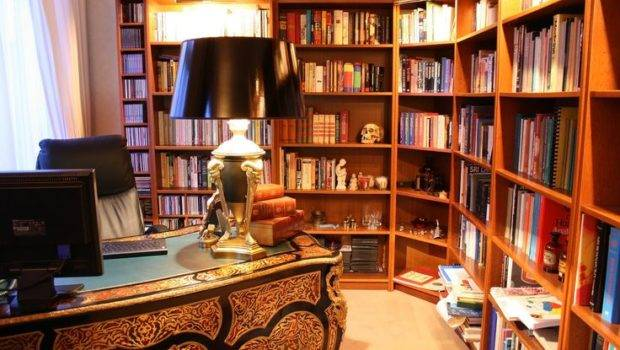 Home Library Office Ideas House Pinterest